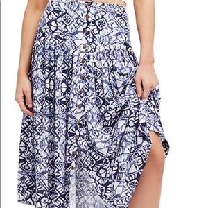 NWT FREE PEOPLE midi skirt